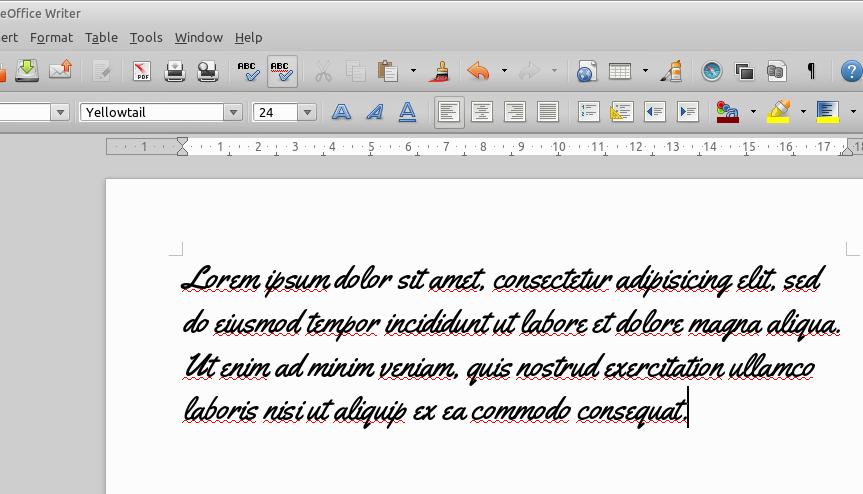 Font bisa digunakan di LibreOffice