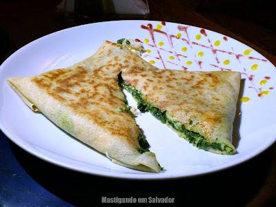 Creperê Crepes e Saladas: Crepe Espinafre (aberto)