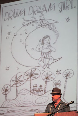 Drum Dream Girl by Margarita Engle and Rafael López via www.happybirthdayauthor.com