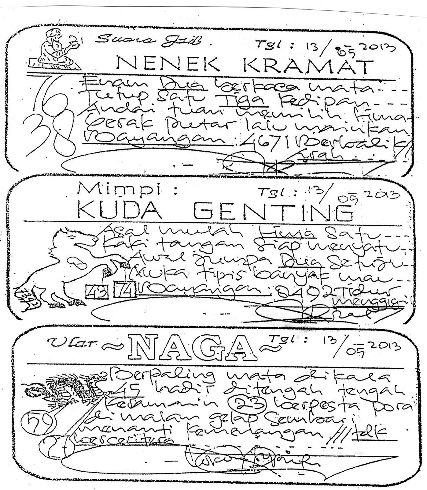 Prediksi dan Syair SGP,Senin,13/5/2013