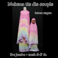 Mukena pelangi Tie Dye Couple