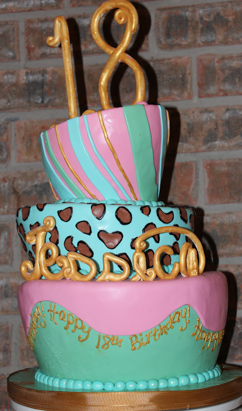 Sweet Stirrings 18th Topsy Turvy Birthday Cake