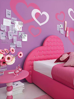 plus- Bedroom Designs for Teenage Girls with Pink Color - Dream Home Designs