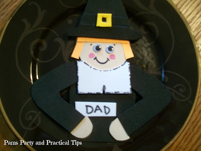 How to make a pilgrim place card craft