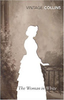 Vintage edition cover of The Woman in White by Wilkie Collins
