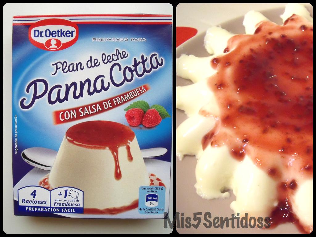 Dr. Oetker: Panna Cotta con salsa de frambuesa