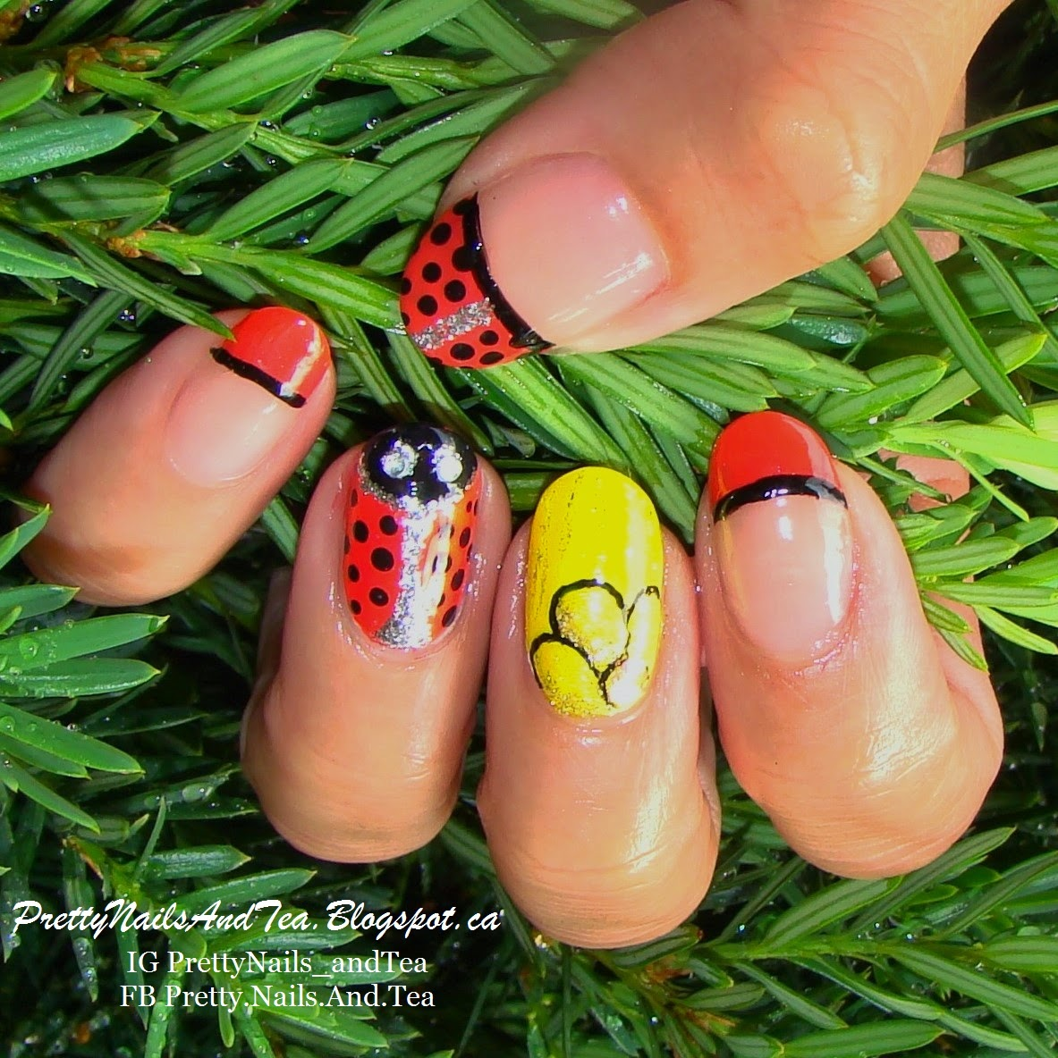 Lady Bug Nails | Pretty Nails And Tea