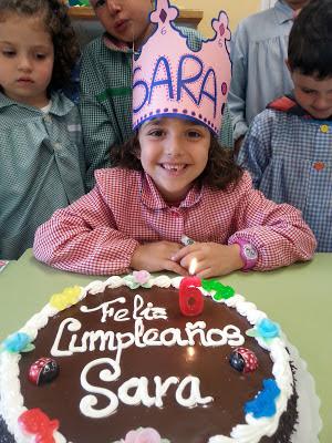 Sara cumple 6 años