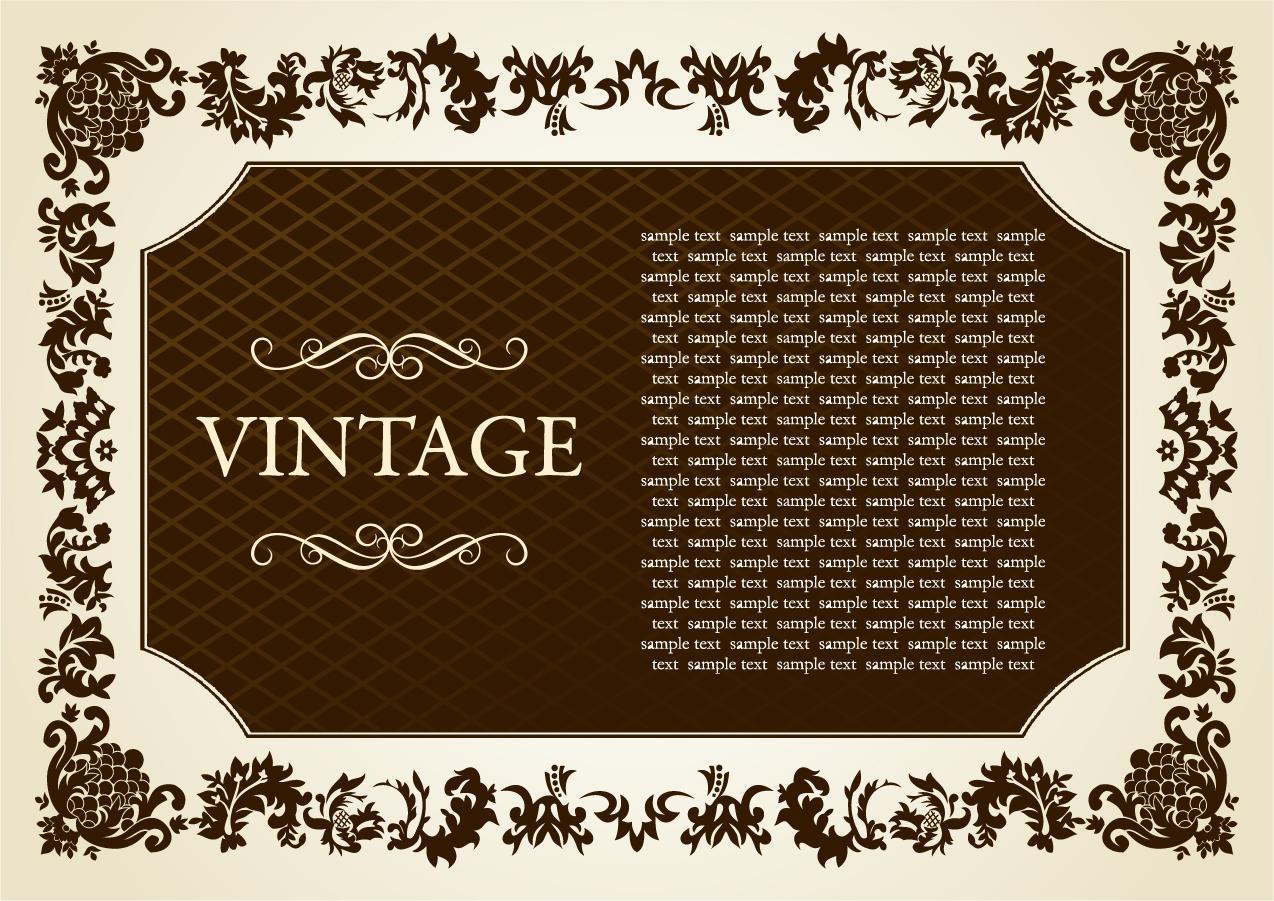 ヨーロッパ調のヴィンテージな装飾素材 european classical vintage Element イラスト素材2