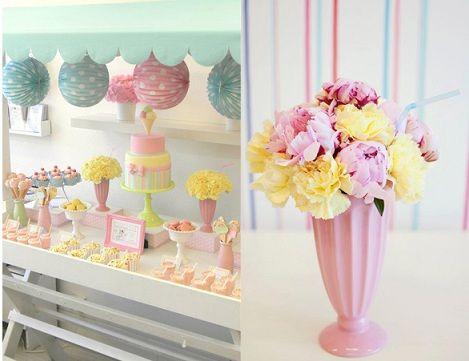 Ponle flores florea os feliz - Decoracion de helados ...