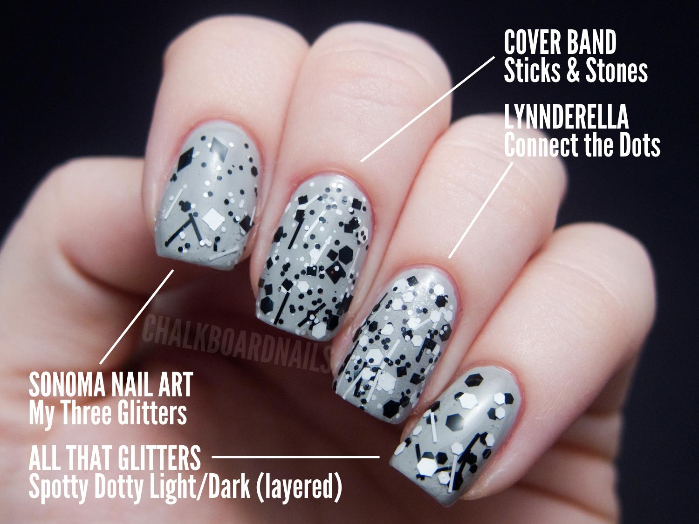 The Ultimate Black and White Glitter Comparison Post | Chalkboard ...
