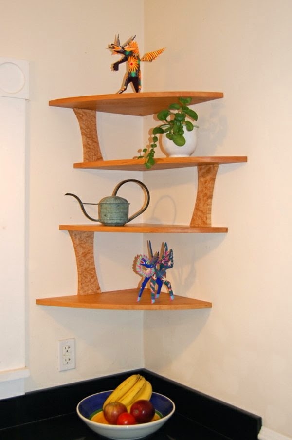 New ideas for corner shelving units, wall mounted corner shelves