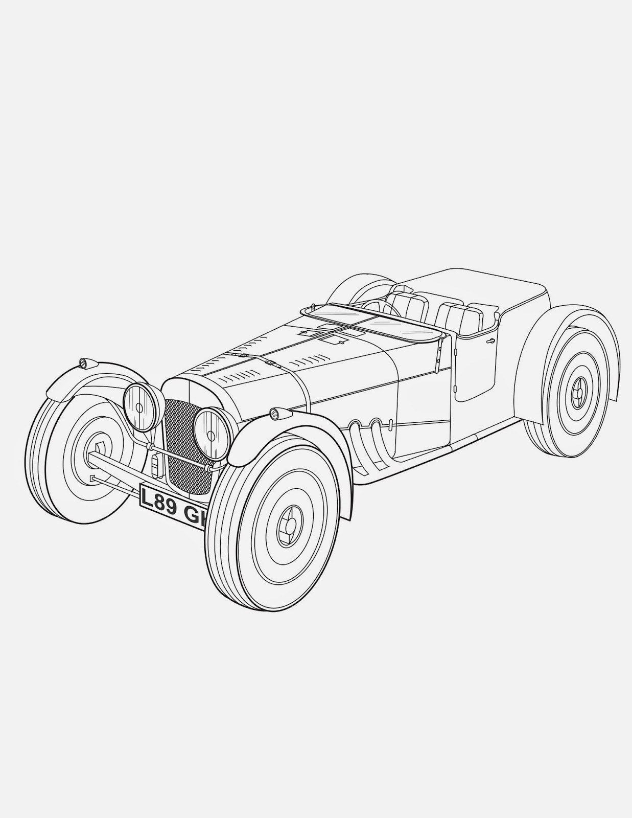 blog of perilous art endeavor 2 old sports car in perspective