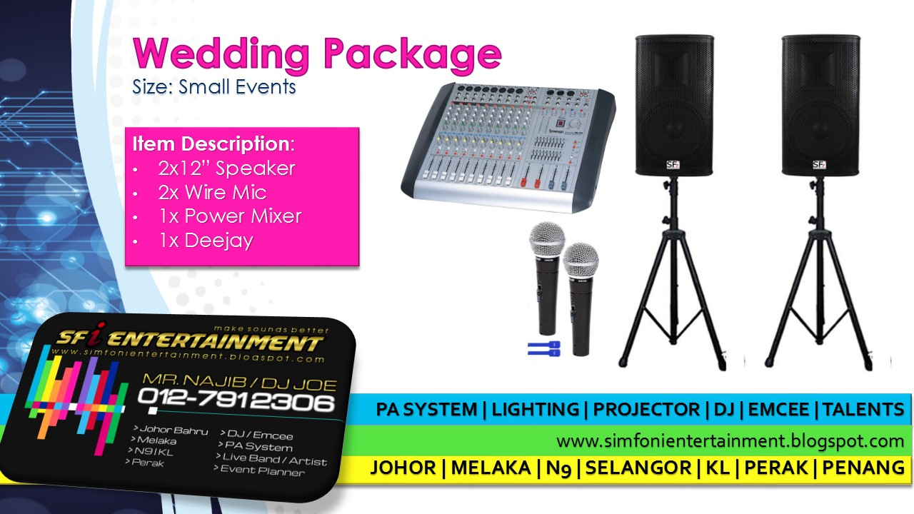 Sfi Entertainment Amp Creations Khidmat Sewa Pa System
