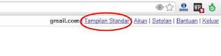 email tampilan standar
