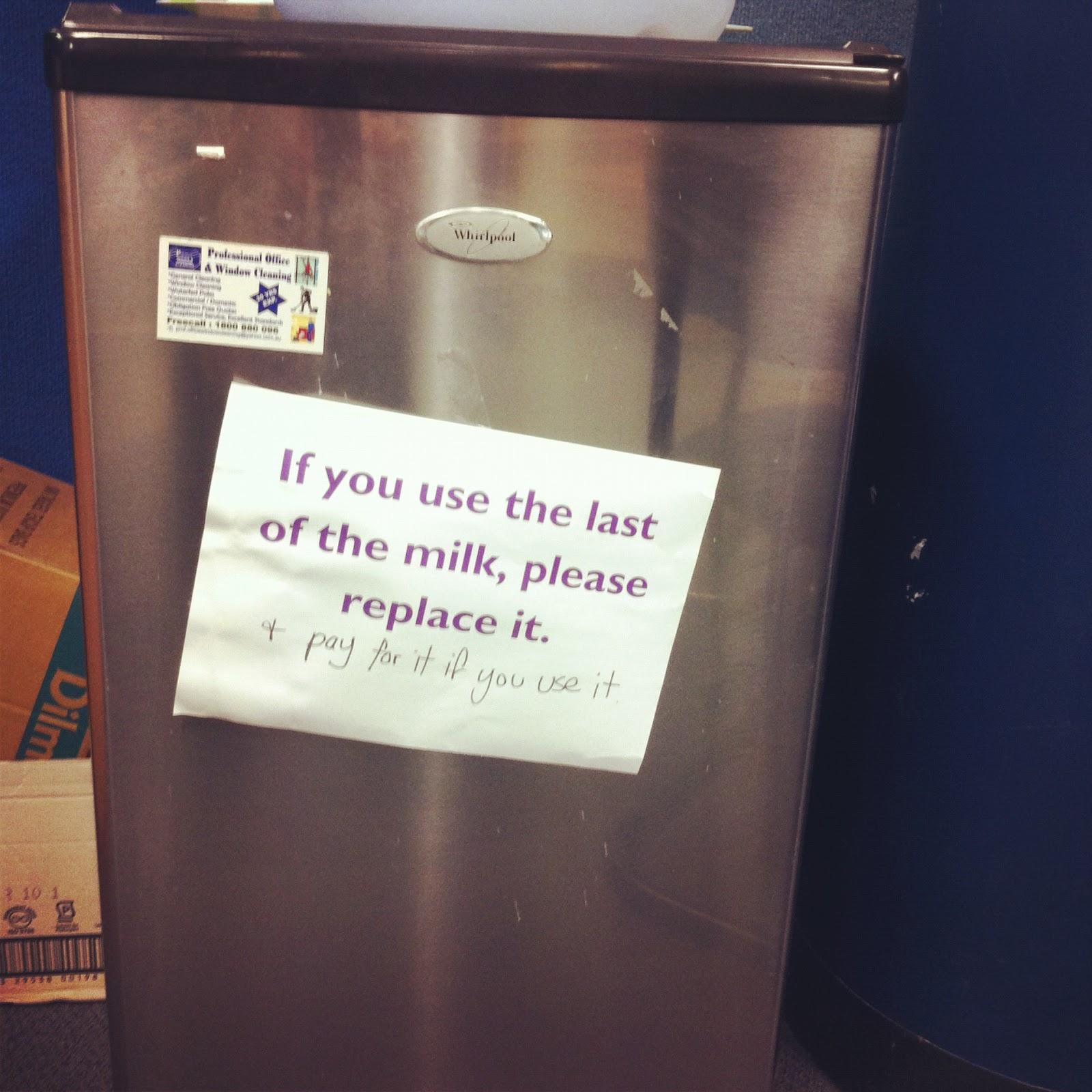 Kitchen Courtesy Signs: Office Kitchen Politics