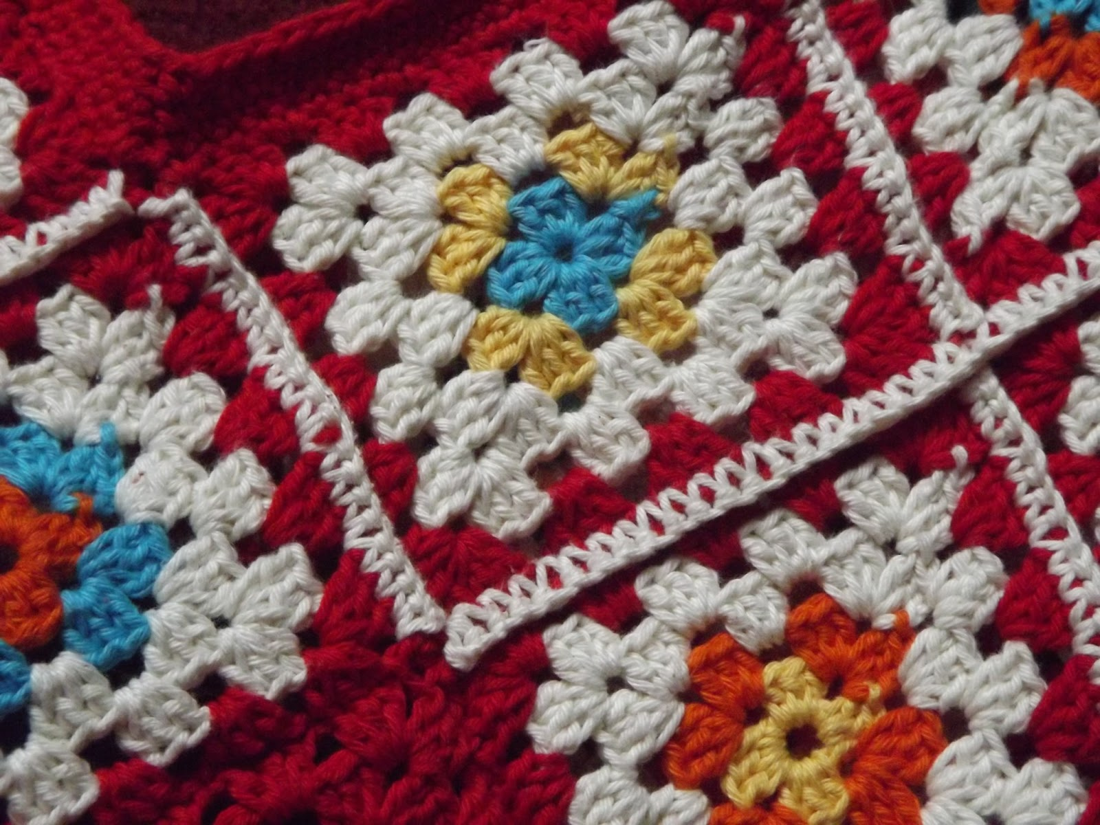 Free Crochet Granny Square Angel : My June Ta Dah! Finished and now revealed.