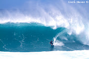 Danilo Couto Brazilian Peahi Ride of the Year Champion at Sunset Beach Oahu . (img )