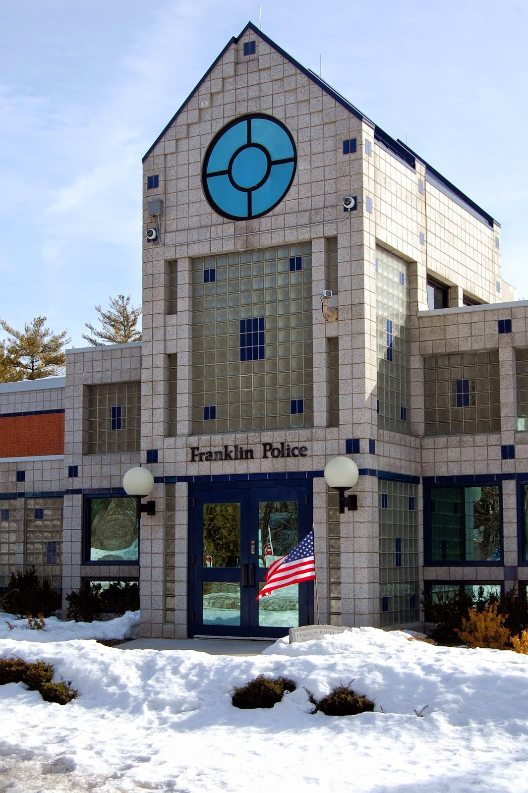 Franklin Police Station (Mar 2014 in snow)