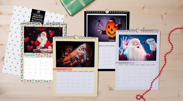 Santa, personalised calendar