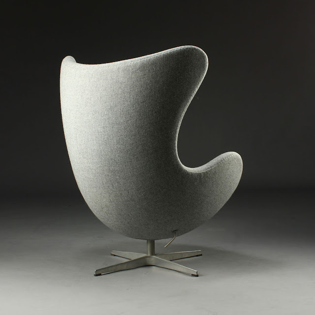 Manufactured by Fritz Hansen and Designed by Arne Jacobsen.  Egg chair