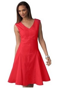 Jessica London Cap Sleeve Double V-Neck Dress