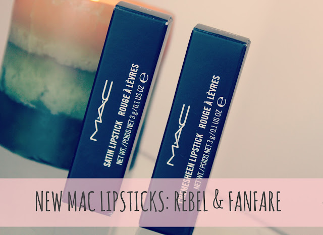 MAC Lipsticks, MAC Fanfare and Rebel Lipsticks, MAC Lipstick Swatches, UK Beauty Blog, Couture Girl Blogspot, Beauty Blogger.jpg