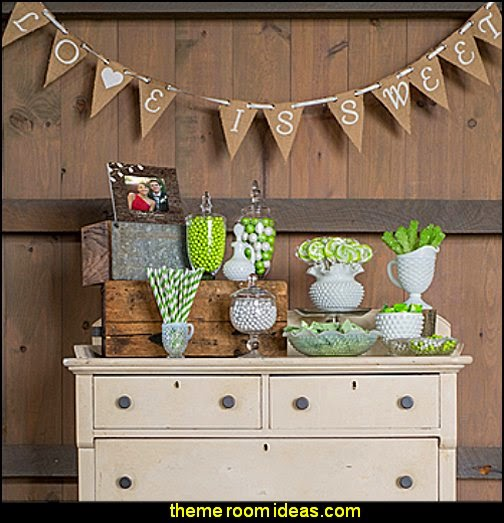 Decorating theme bedrooms maries manor rustic style wedding rustic romance diy candy buffet junglespirit Image collections