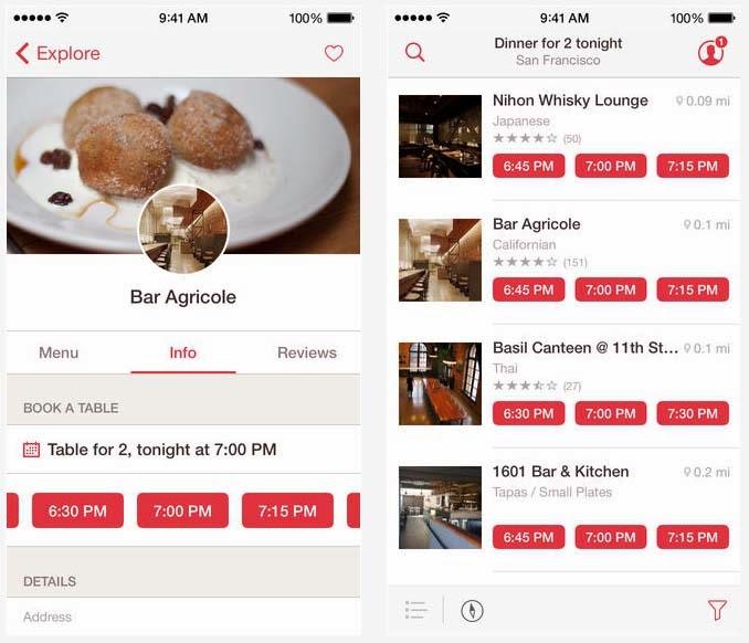 OpenTable Free iPhone App