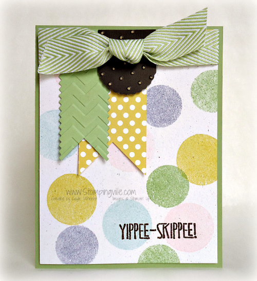 Yippee-Skippee! Festive + fun card by Stampingville