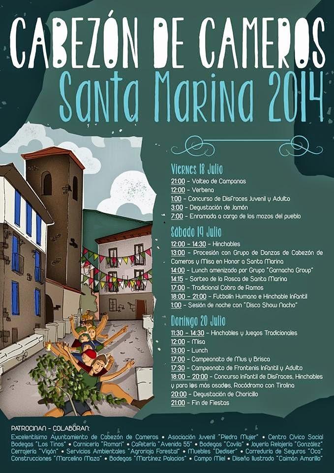 18 a 20 de julio. Fiestas de Santa Marina en Cabezón de Cameros