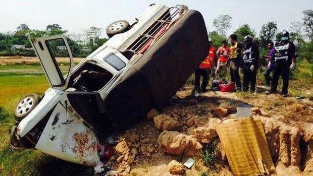 Unfall Songkran Thailand