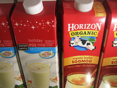Market Pantry Egg Nog and Horizon's Egg Nog