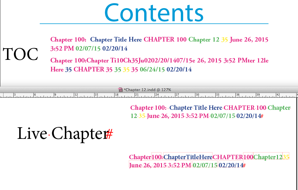 how to delete a table of content in indesign