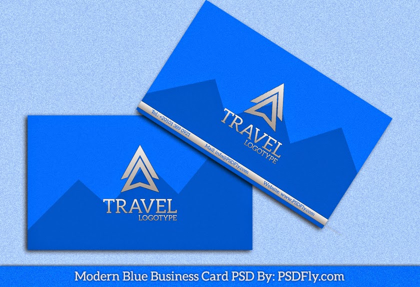 Modern Blue Business Card PSD | PSD Fly | Download Free PSD Files