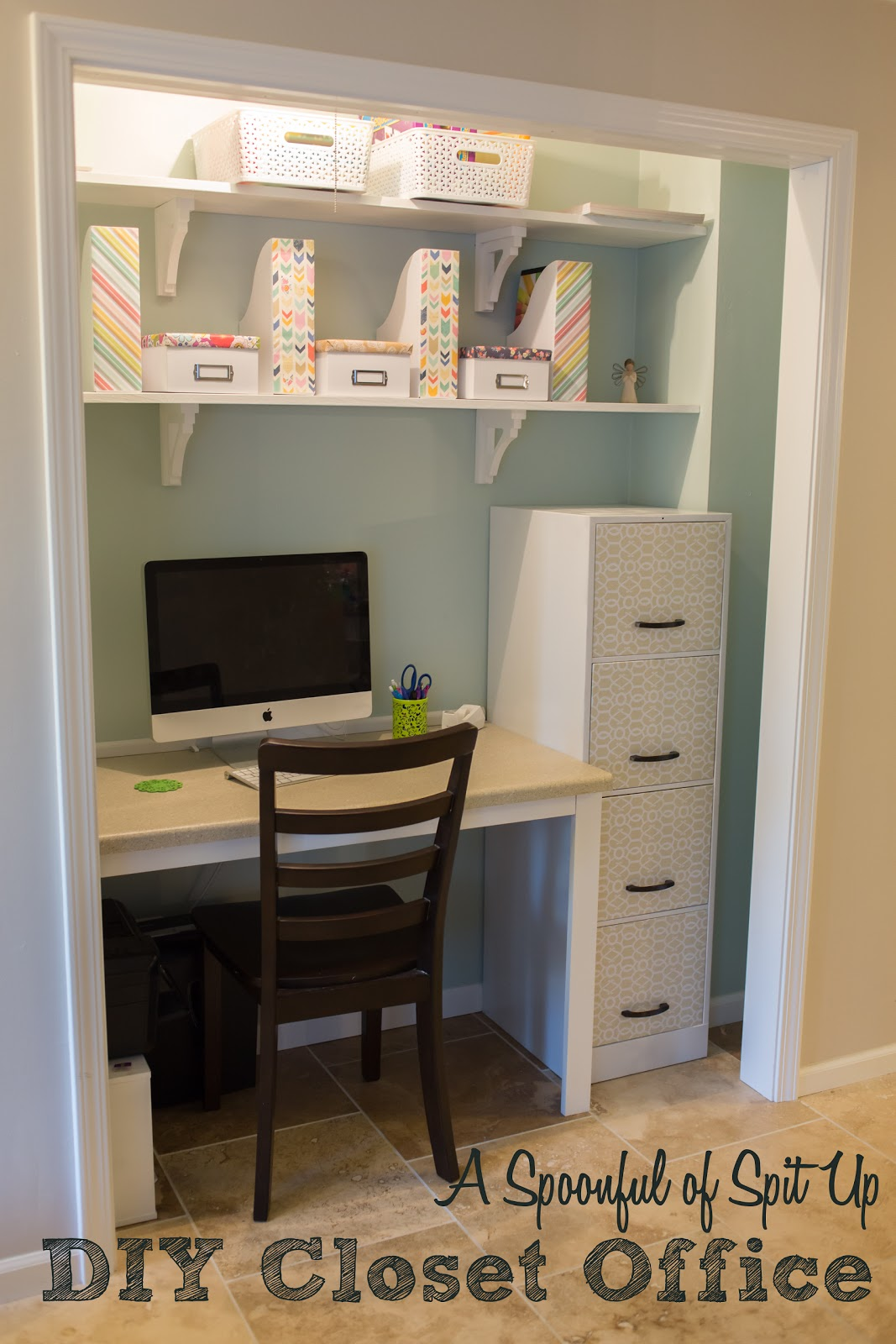 a spoonful of spit up: diy closet office!