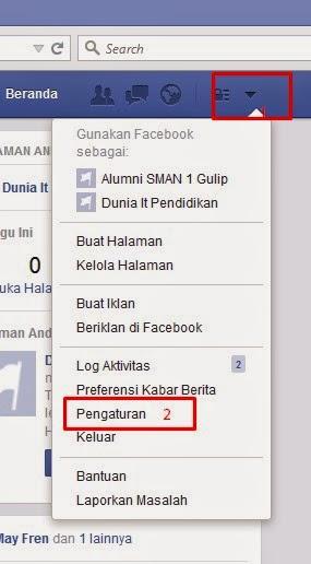 Cara Mendelate Akun Facebook