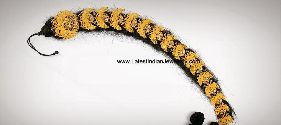 Peacock Design Gold Jada Choti