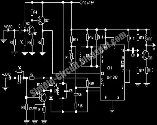 simple circuit design simple tv transmitter circuit using lm1889n ic rh simple circuit blogspot com 10W FM Transmitter Circuit 10W FM Transmitter Circuit