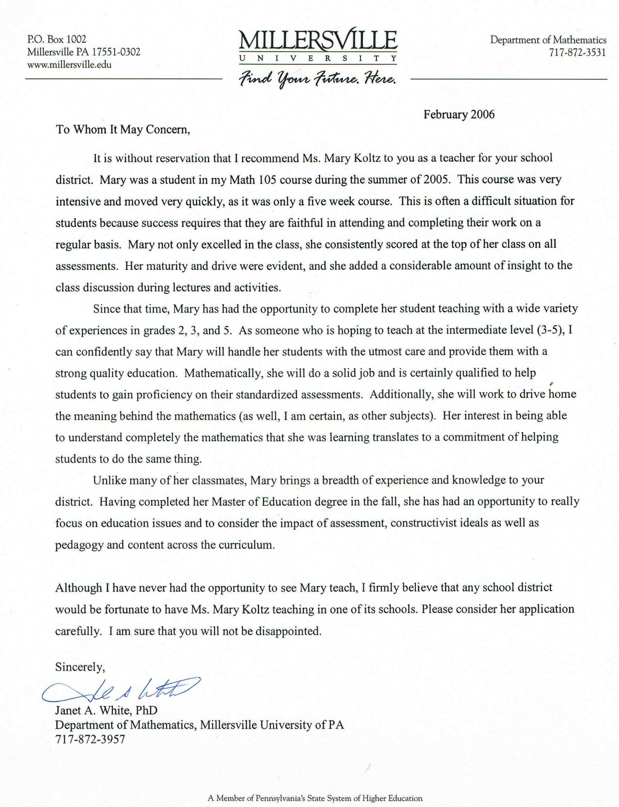 Sample Recommendation Letter From Professor For Phd  EczaSolinfCo