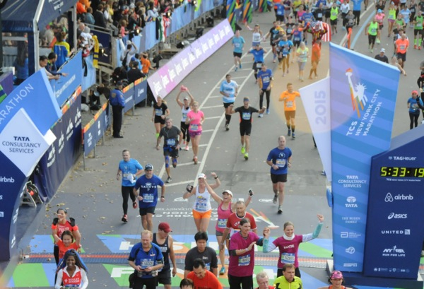 2015 New York Marathon Finish Line