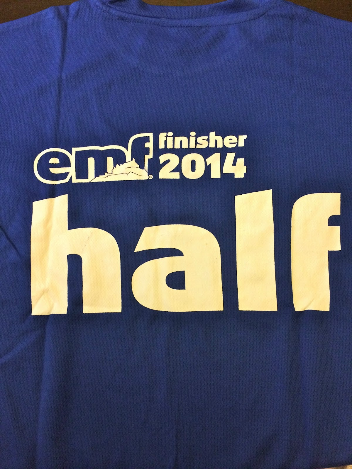 Edinburgh half marathon runner 2014