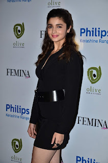 Alia Bhatt Delicious cute smile in Short Black Dress at Femina Magazine 55th Anniversary Issue Cover Launch Mumbai