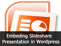 embedding slide share presentation in wordpress