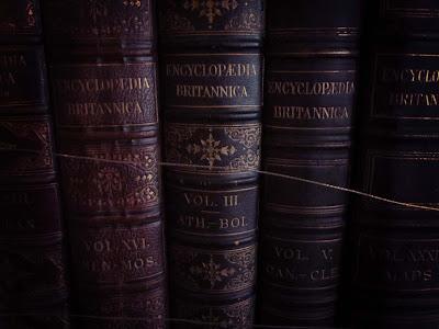 Encyclopedia Britannica, books, vintage, spine