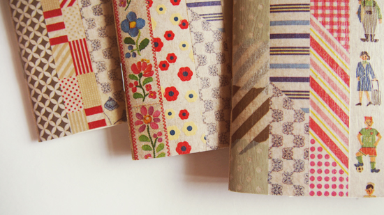 washi notebooks diy