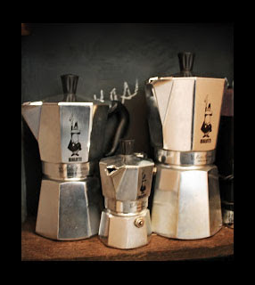 Bialetti Mokas  (espresso makers) recommended by linenandlavender.net, available in the emporium