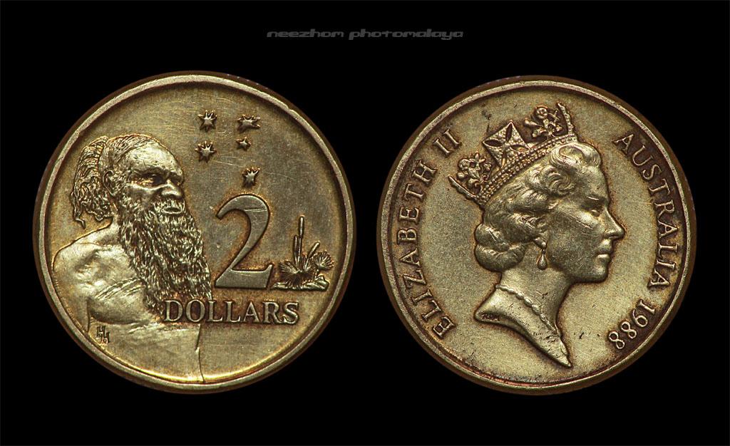 Australia 2 dollars 1988 coin