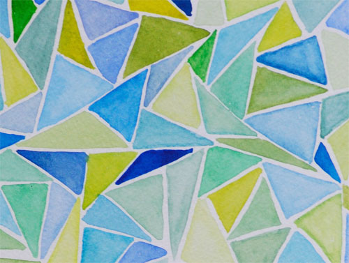 abstract watercolor traingles