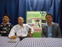 GTA Sabha member Yogendra Rai (right) along with experts on Scrub Typhus